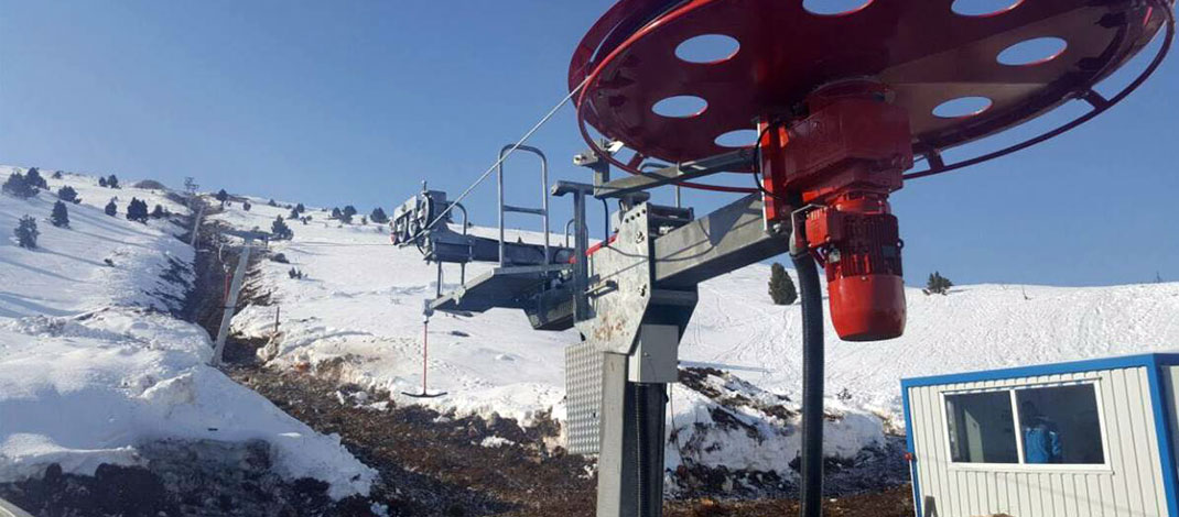 Ermenek Kayak Merkezinde Teleferik