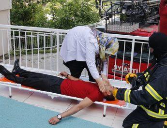 Ermenek Rehabilitasyon Merkezinde Yangın Tatbikatı